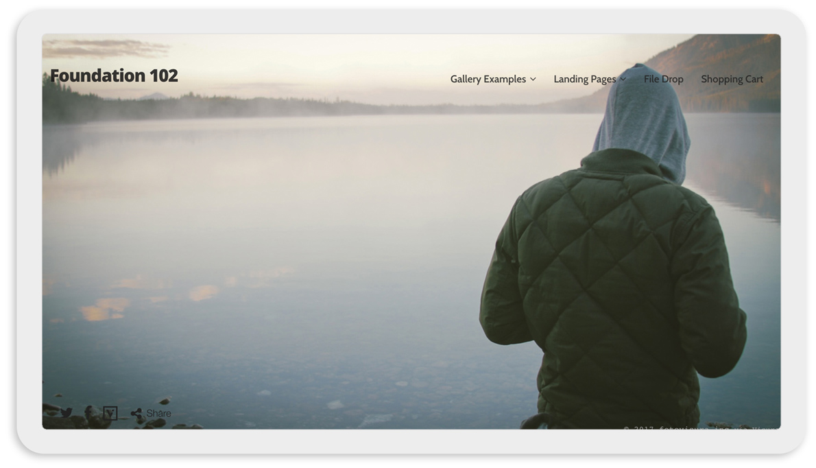Visura Photography websites - desktop template 102