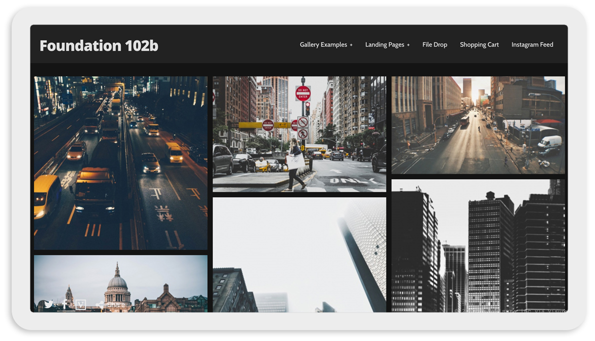 Visura Photography websites - desktop template 102 black