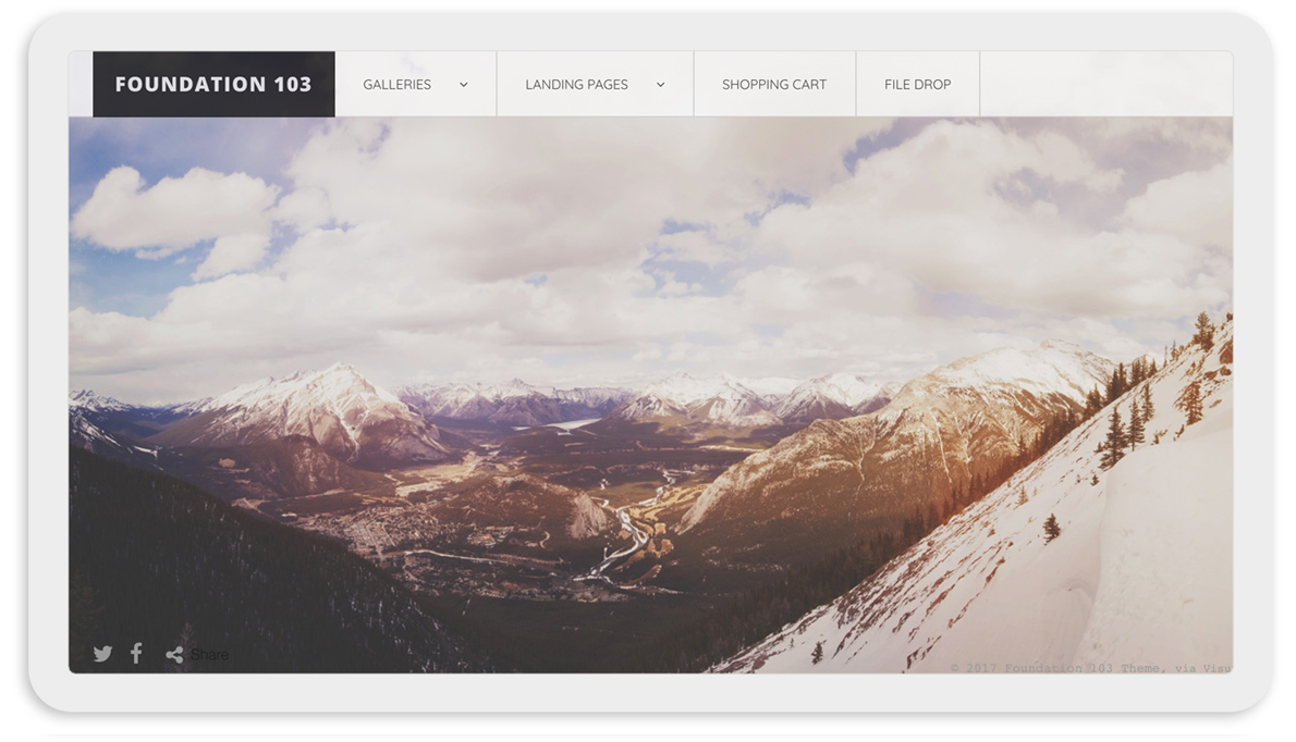 Visura Photography websites - desktop template 103