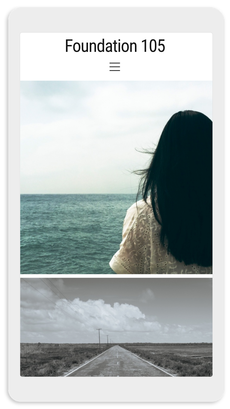 Visura Photography websites - mobile template 105