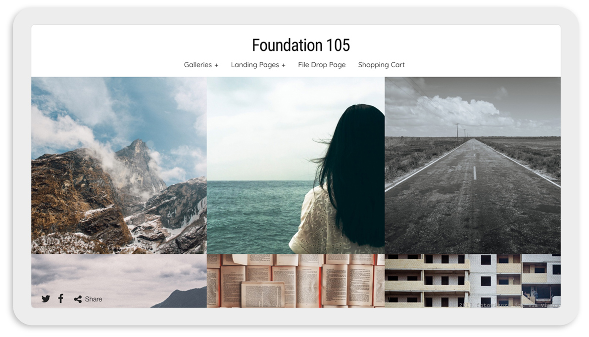 Visura Photography websites - desktop template 105